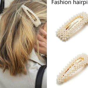 3 pieces New Vintage Women Pearl Hair
